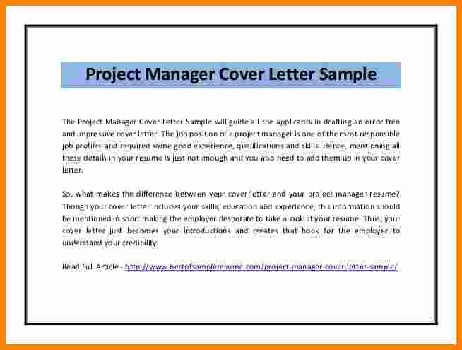 10+ it project manager cover letter sample | ledger paper