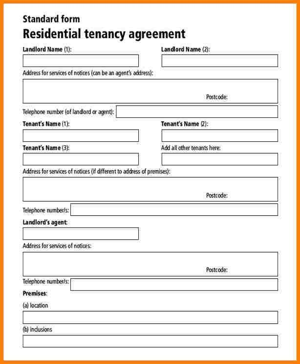7+ Free Tenancy Agreement Form | Inventory Count Sheet