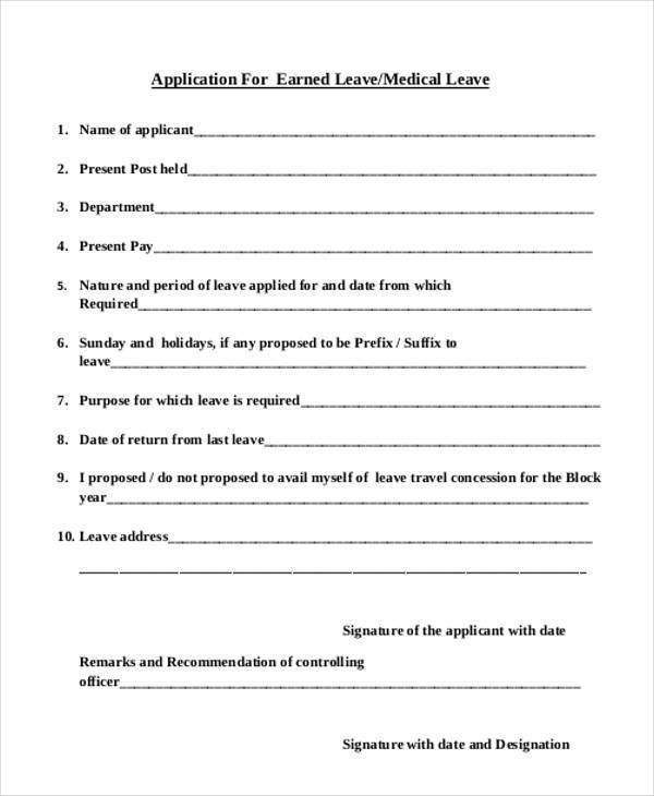 Medical Leave Form. Non-Medical Leave Of Absence Request Form ...