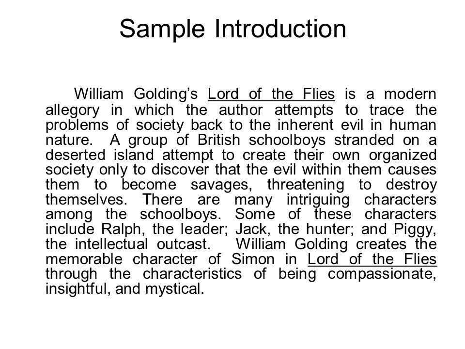 Lord of the Flies Character Analysis. - ppt video online download