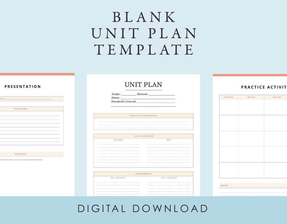 Unit Plan Templates. complex unit lesson plan template lesson plan ...