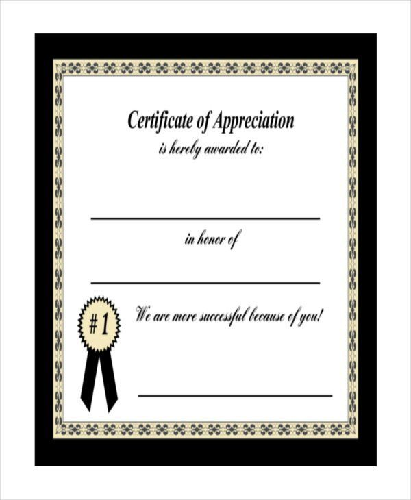 22+ Certificate of Appreciation Templates - Free Sample, Example ...