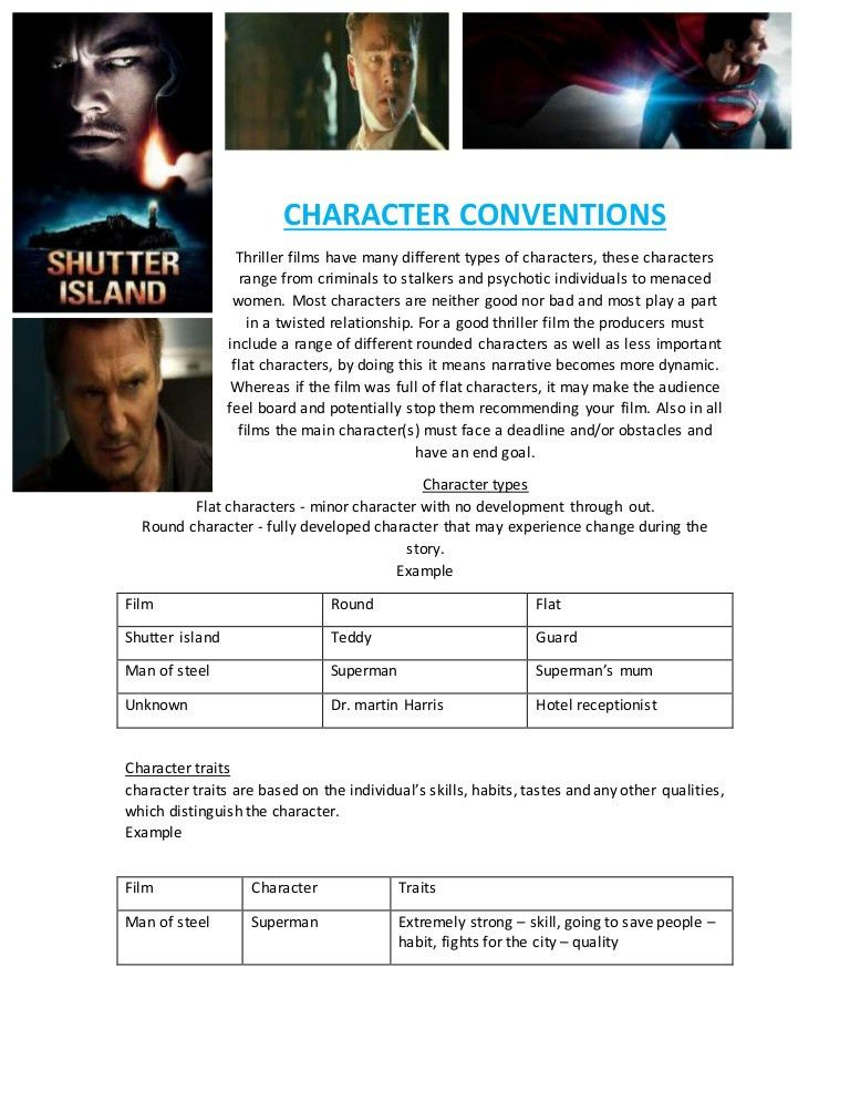 Character conventions