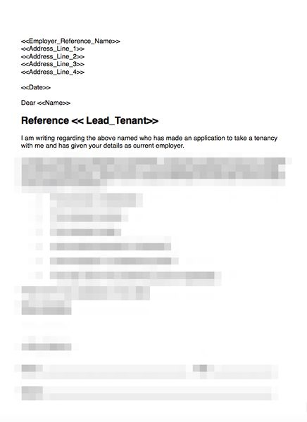 Brilliant Ideas of Sample Employment Reference Letter For Tenant ...