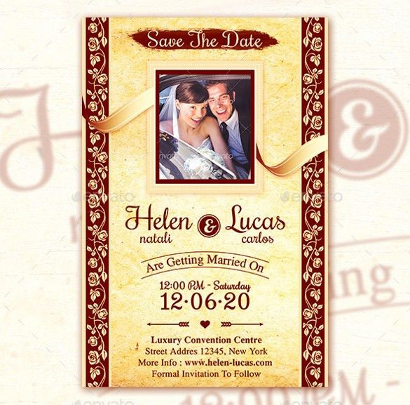 23+ Elegant Wedding Invitation Templates – Free Sample, Example ...
