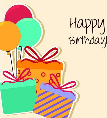 Vector set of happy birthday cake card Free vector in Encapsulated ...