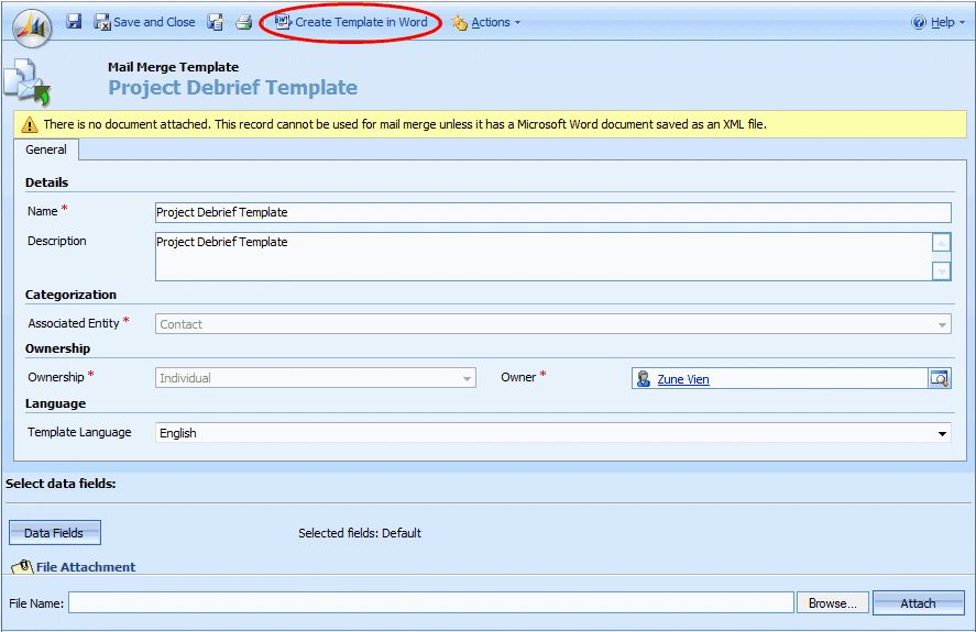 How to create and use mail merge templates in Microsoft CRM ...