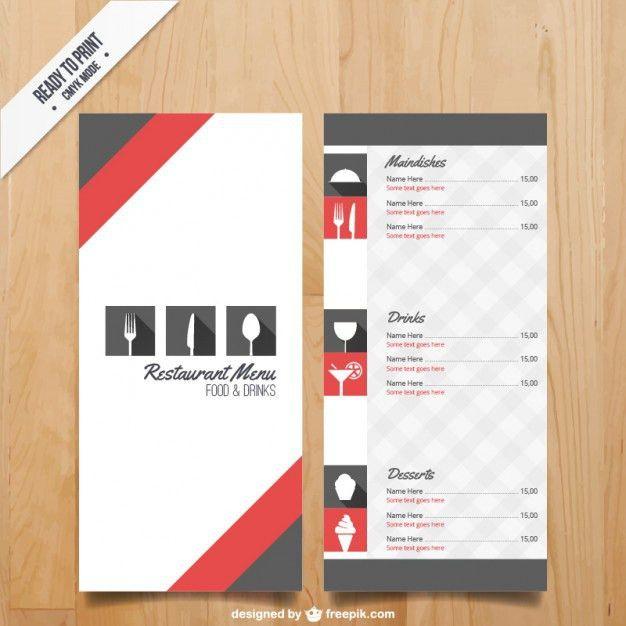 Menu template for restaurant Vector | Free Download