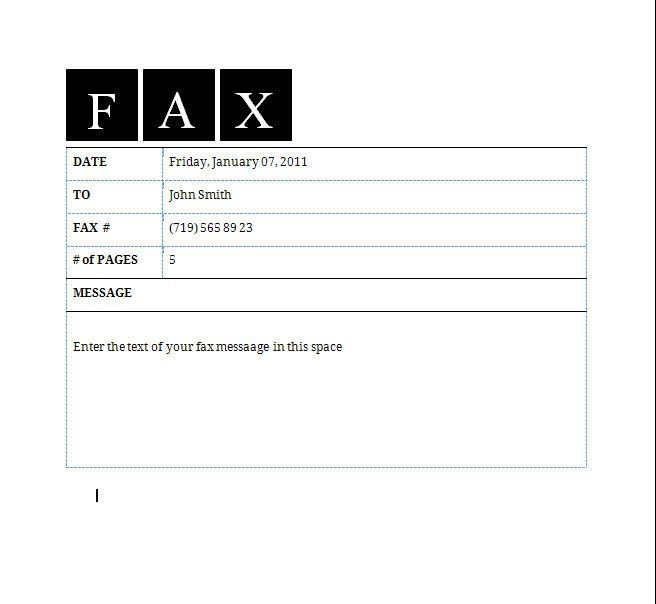 Fax Cover Letter Format | Resume Badak