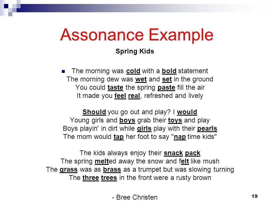 exle of assonance assonance meaning definition importance