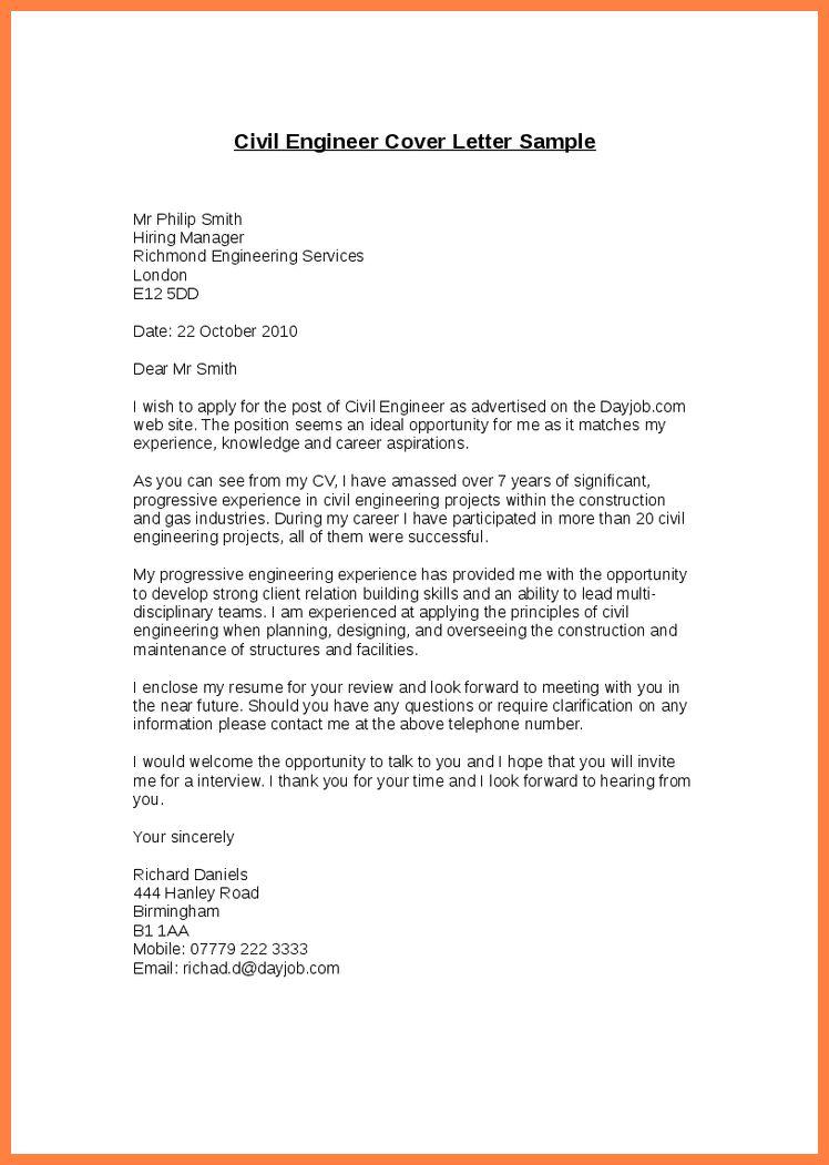 6+ Application Letter of Civil Engineer   Bussines Proposal 2017