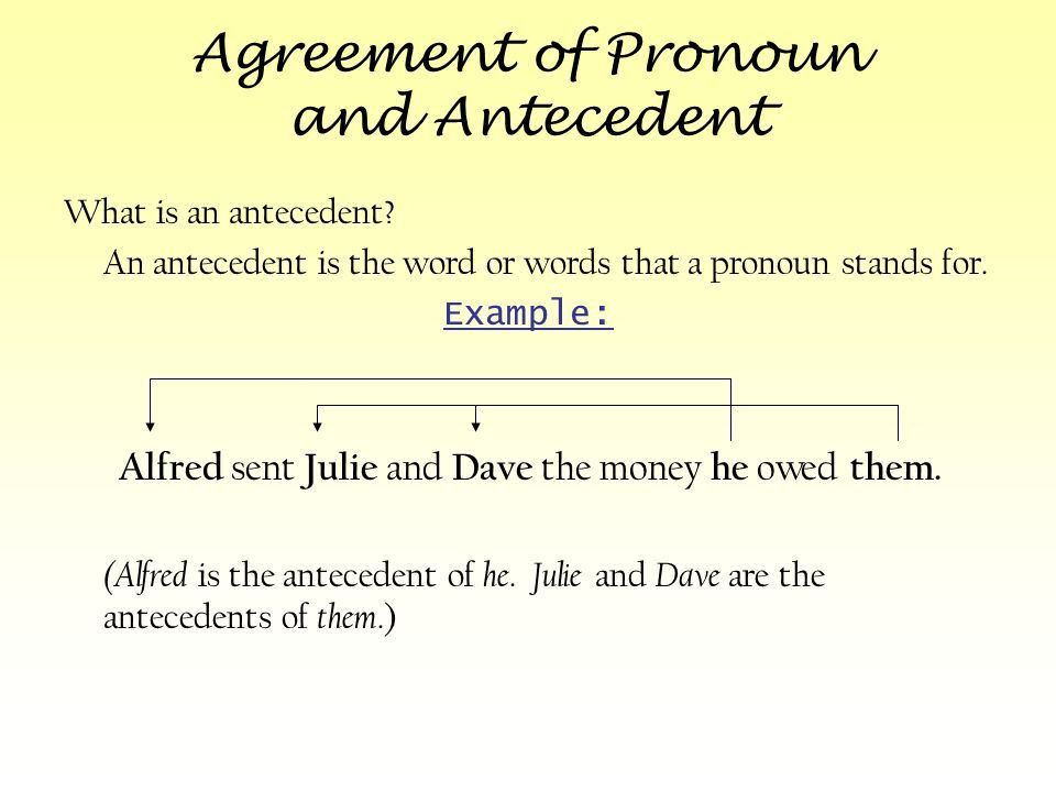 Pronoun and Antecedent Agreement Journal #7 - ppt download