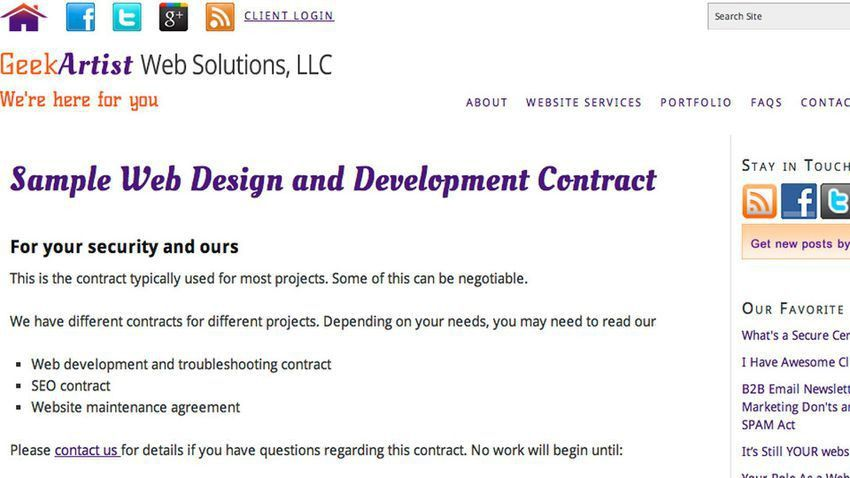 10 Free Contract Templates for Web Designers
