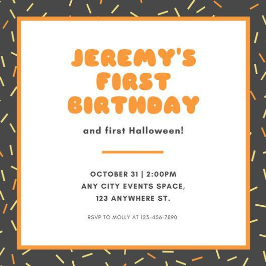1st Birthday Invitation Templates - Canva
