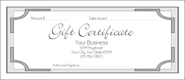 Gift Certificate Template Pages | Best Template Examples