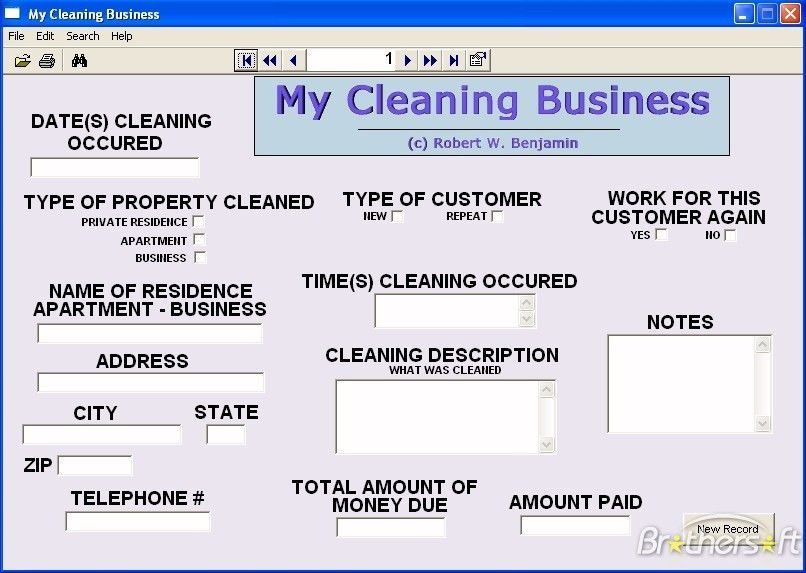 Download Free My Cleaning Business, My Cleaning Business 10.0 Download
