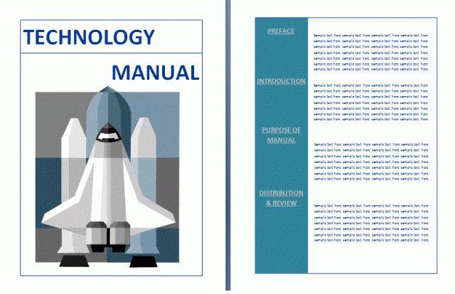 Technical Manual Template | Free Manual Templates