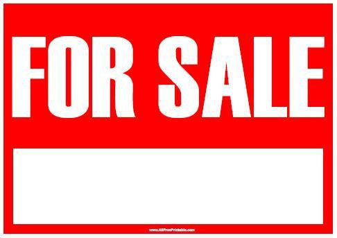 For Sale Sign - Free Printable - AllFreePrintable.com