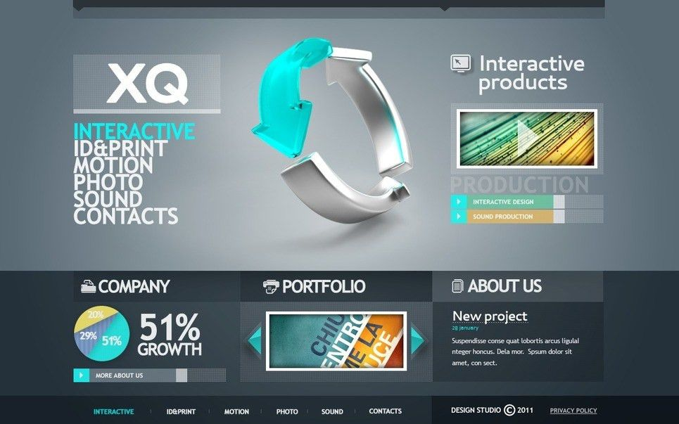 Design Studio Flash Template #35402