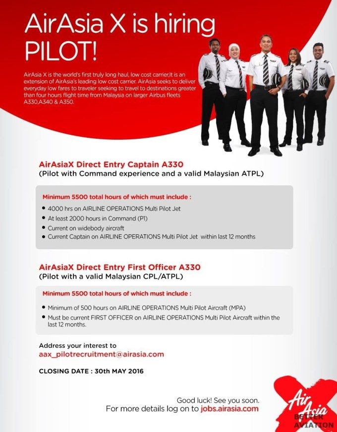 AirAsia X Direct Entry First Officer A330 - Better Aviation