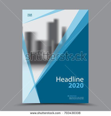 Blue Cover Design Annual Report Template Stock Vector 576395497 ...