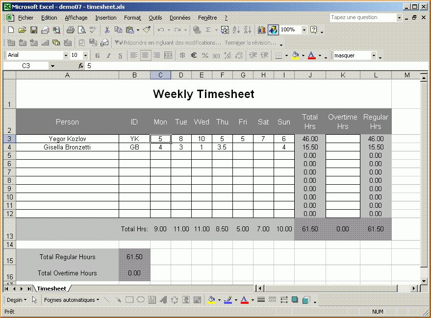 5+ Excel Timesheet Templates | Timeline Template