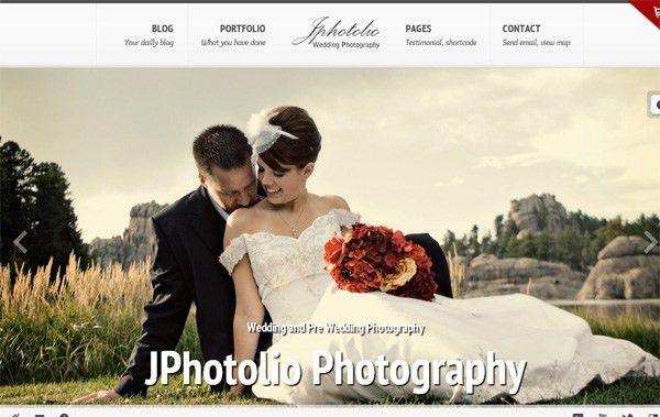 40 Beautiful WordPress Themes for Wedding Photographers