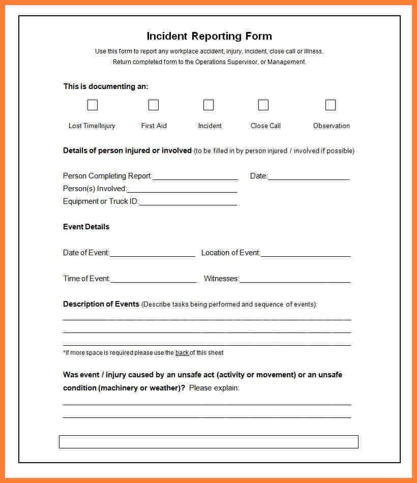 6+ incident report template microsoft word | Progress Report
