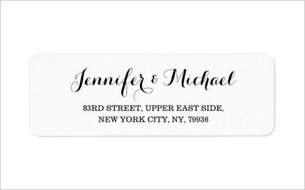 9+ Wedding Address Labels - JPG, PSD Download | Free & Premium ...