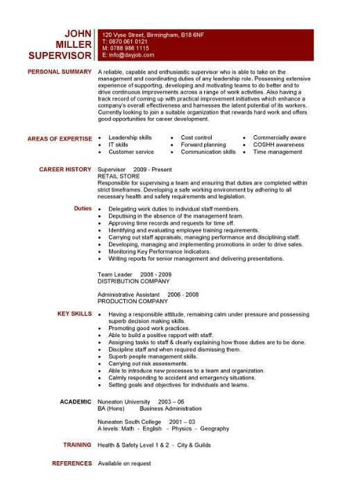 cv resume template free resume templates resume examples samples ...