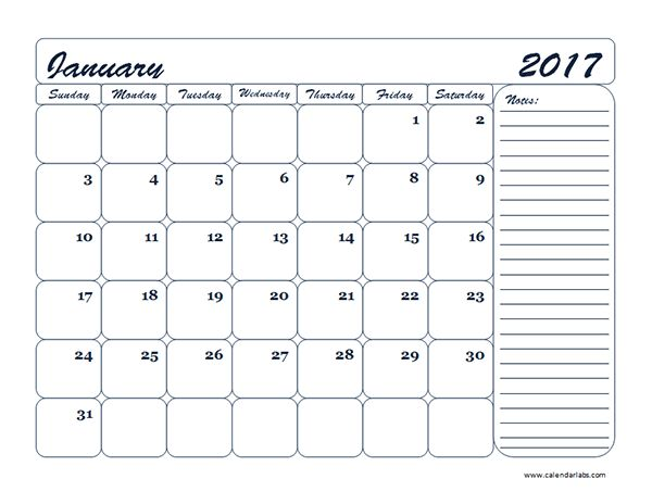 2017 Three Month Calendar Template - Free Printable Templates