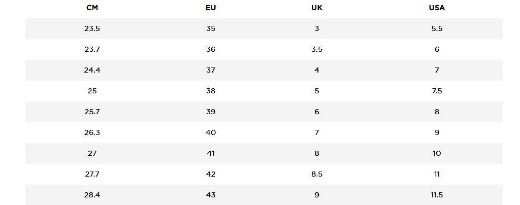 Indian Shoe Size Chart - Women, Men and Kids (UK, EU, USA)