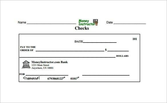 Blank Check Template | ebook