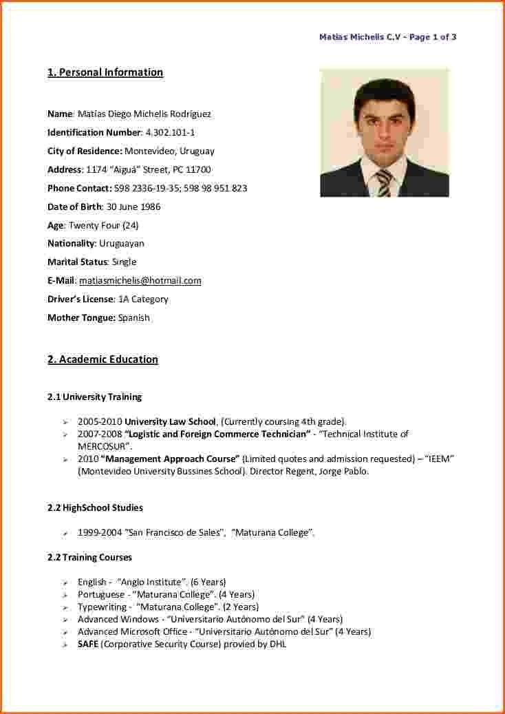 resume in english resume format download pdf english resume