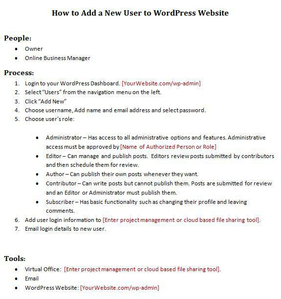 Template] How to Create a Standard Operating Procedure for Your ...