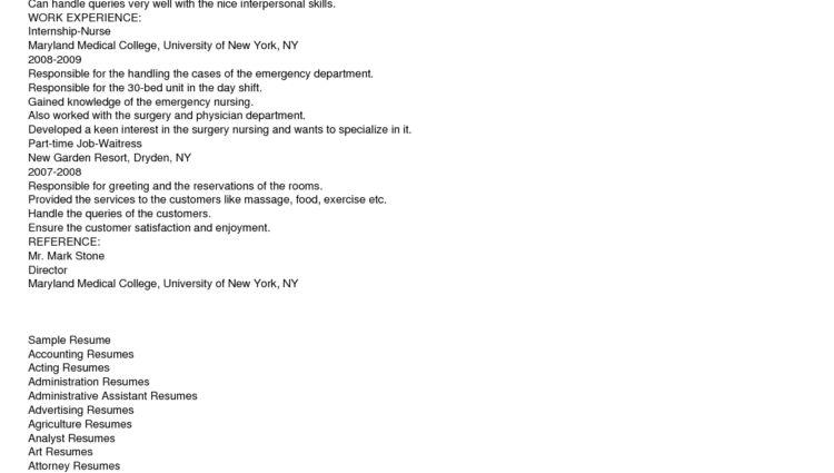 Nurse Resume Objectives Samples Registered Nurse Resume Example ...