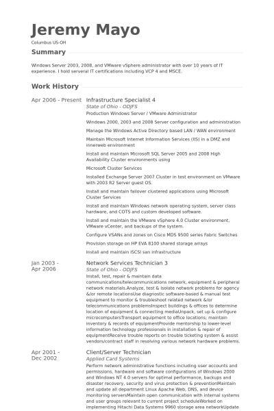 Download Storage Administration Sample Resume ...