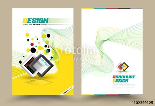 Cover page layout template technology style. Vector illustration ...