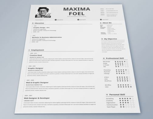 cv template free indesign - Resume cv templates free