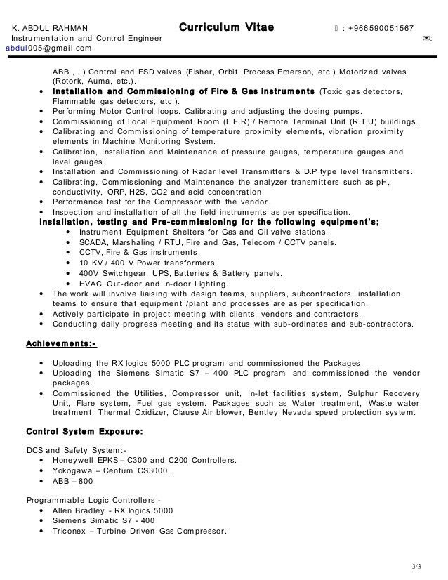 Download Process Control Engineer Sample Resume ...