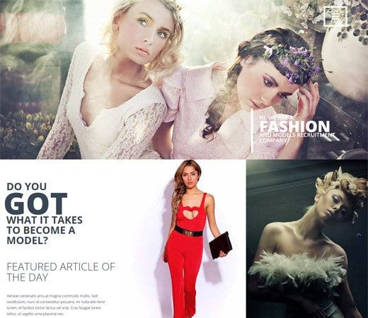 30 Free HTML5 CSS3 Fashion Website Templates