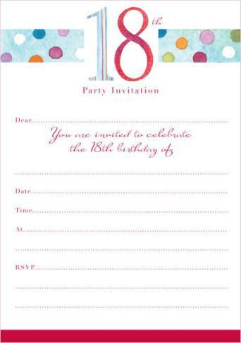 40th Birthday Ideas: Birthday Invitation Templates 18th