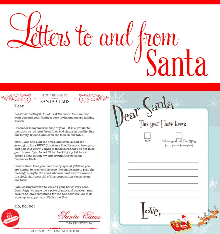 Dear Santa Printables - The SITS Girls