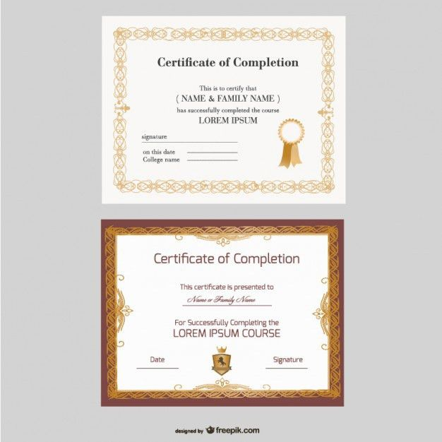 50+ Certificate Template Vectors | Download Free Vector Art ...