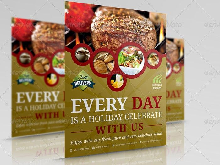 20 + Creative and Premium Restaurant Flyers
