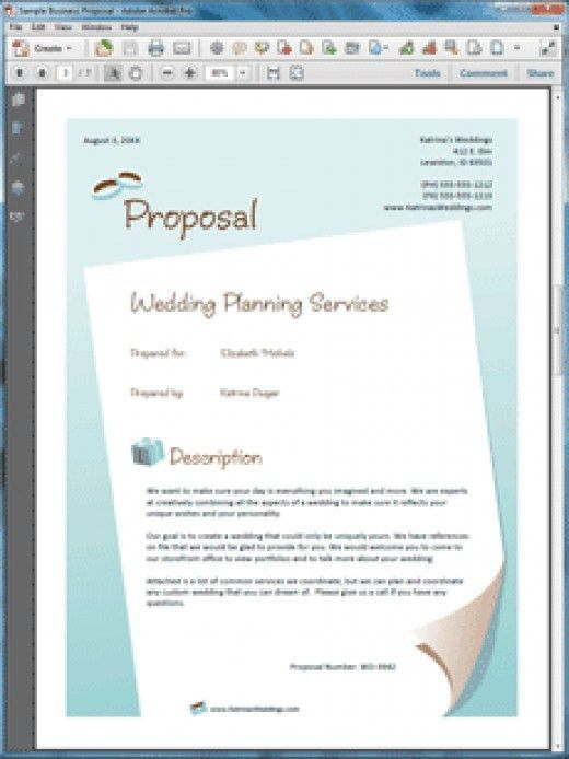 How to Write a Wedding Event Planner Business Proposal | HubPages