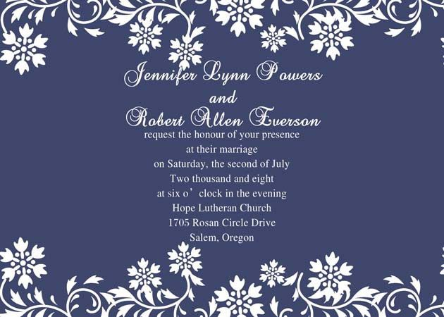 Wedding Invitation Background Blue Free ~ Yaseen for .