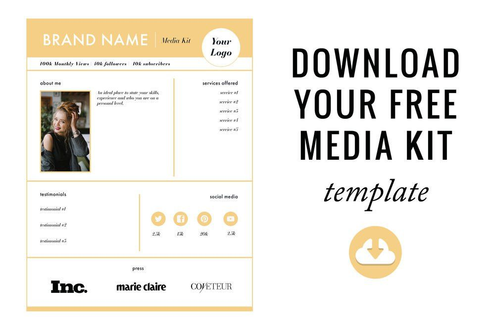 How to Create the Perfect Media Kit + FREE template — Blog it Better!