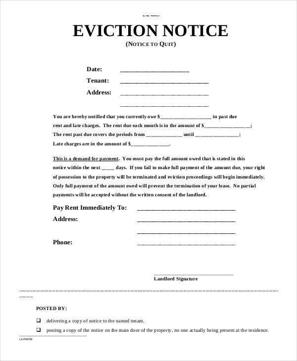 Notice Form Template