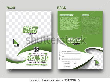 Golf Tournament Front Back Flyer Template Stock Vector 331228715 ...